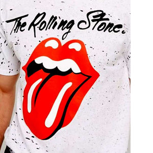 The Rolling Stones Shirts - Rolling Stones Allover Splatte rock T-shirt 2X NWT